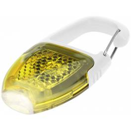 Odblaskowy karabińczyk z diodą LED