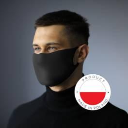 Antybakteryjna maska z jonami srebra i miejscem na filtr .